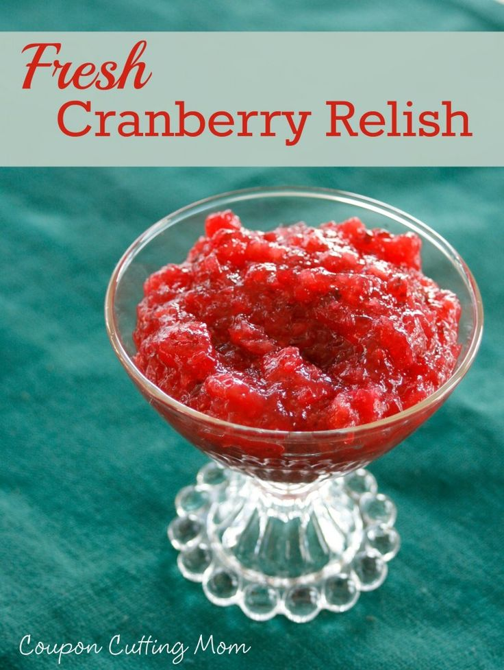 This Cranberry Relish uses fresh cranberries, apples and pineapples ...