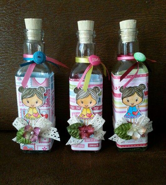 Botellas decoradas - Botellas para perfumes ...