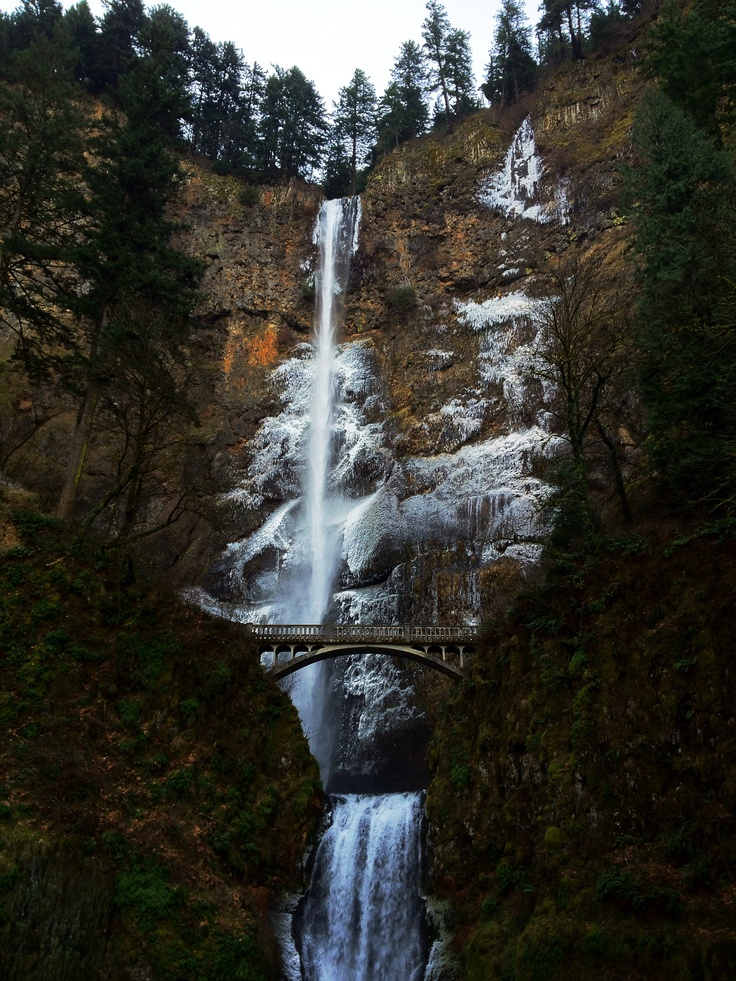 Frozen Falls... Multnomah Falls, Oregon. Photo by: Jim Case
