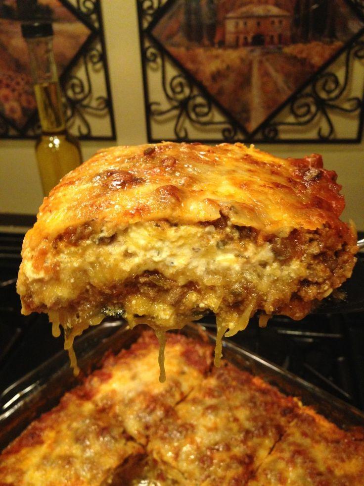 Spaghetti Squash Lasagna | FOOD! | Pinterest