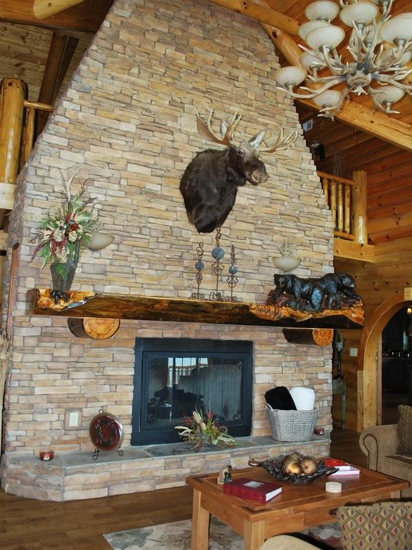 Stacked Stone Fireplace Home Decor Ideas Pinterest