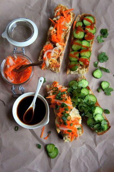 Vietnamese Banh Mi Sandwich | via Rachel @ TwoHealthyPlates.com