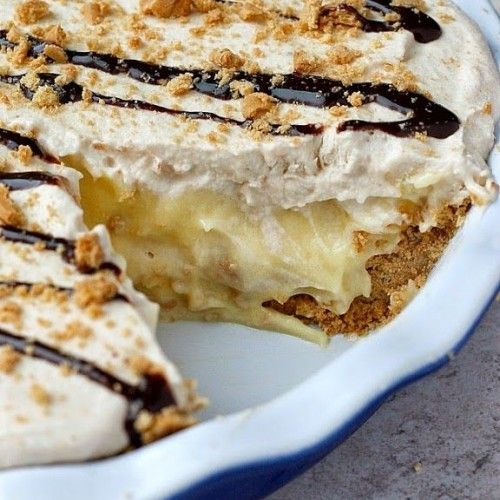Peanut-Butter Banana Cream Pie