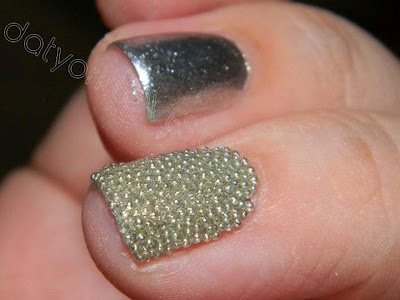 datyorkLOVES: LA Colors Solid Silver Nails with Microbeads + More!