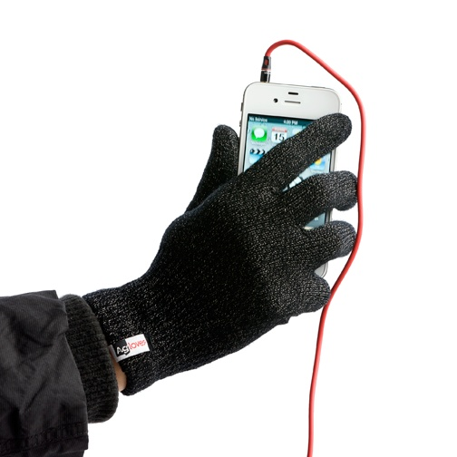 Winter gloves that work on touch screen devices like iPhones, Androids and tablets.  A winter must-have gadget accessory.