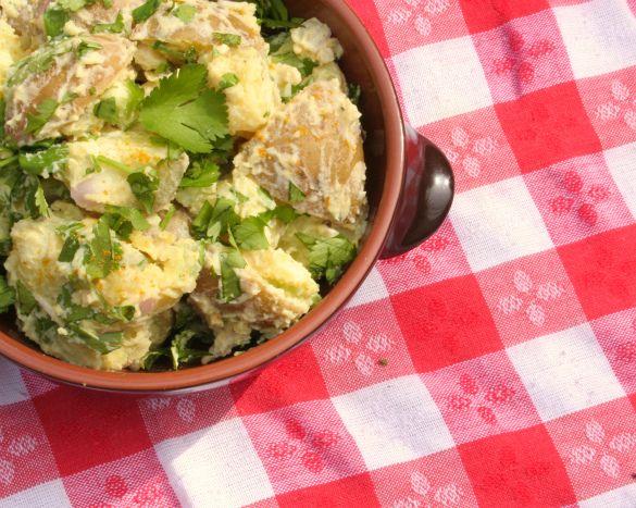 Curried Potato Salad | FOOD | Pinterest