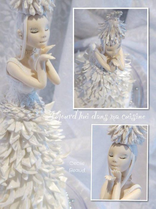 Miss Noël Blanche :) - by CécileBeaud @ CakesDecor.com - cake decorating website