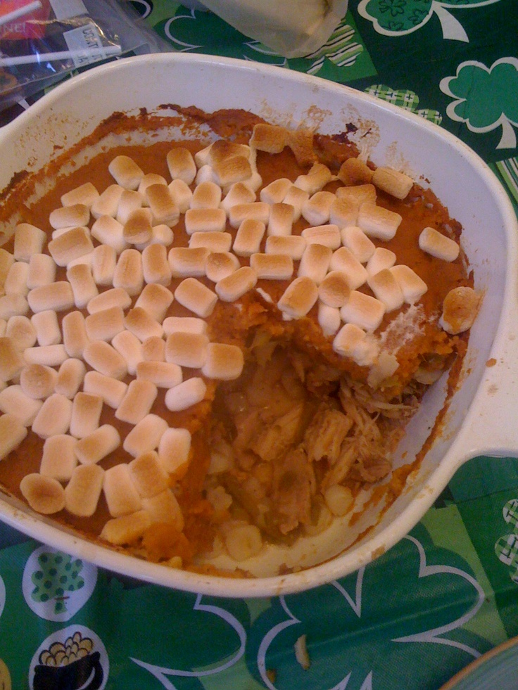 Thanksgiving Shepards Pie. Turkey, Sweet Potato, stuffing and ...