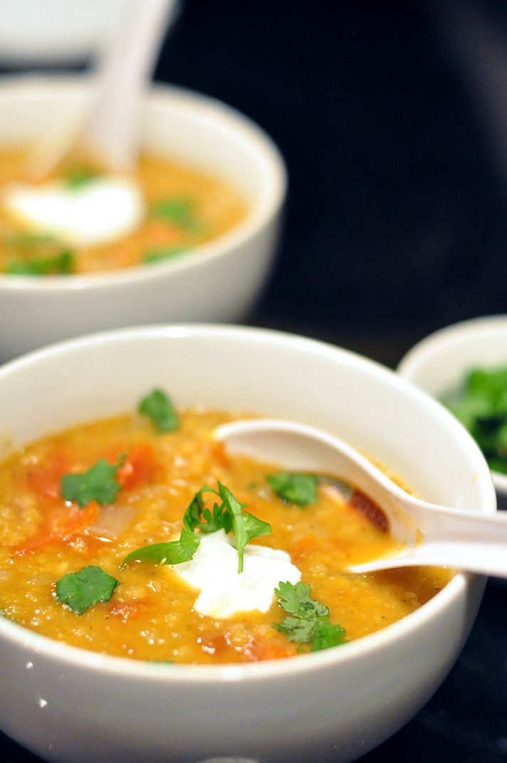 Jenna's curried red lentil soup, from America's Test Kitchen Quick ...