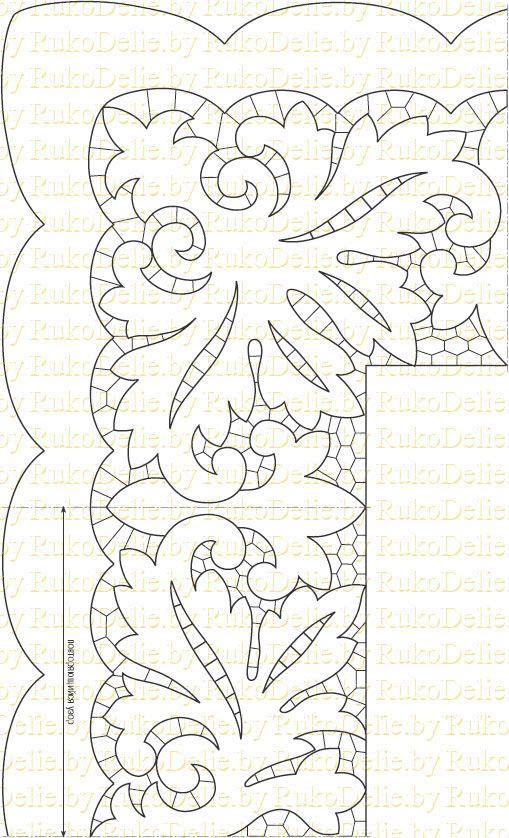 Вышивка ришелье своими руками схемы 89