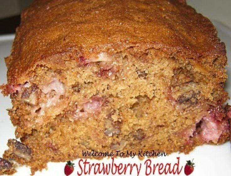 Strawberry Bread Recipe | Breads - Fruit, Nut, Sweet | Pinterest