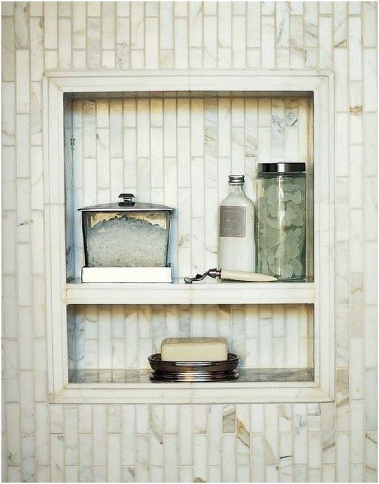 Wonderful Shower Shelf Nook  New House  Pinterest