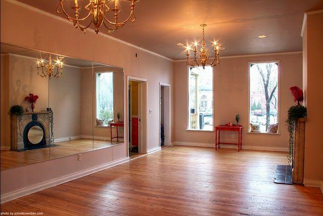 Pretty yoga room.