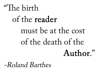 death of the author barthes essay Free essay on analysis of the death of the author available totally free at echeatcom, the largest free essay community the death of the author by roland barthes.