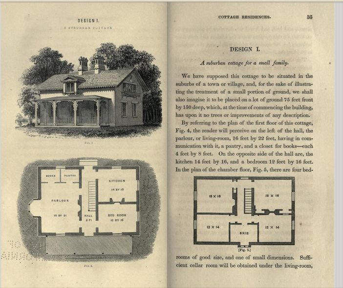 "Full Text of Andrew Jackson Downing's ""Cottage Residences,"" 1842"