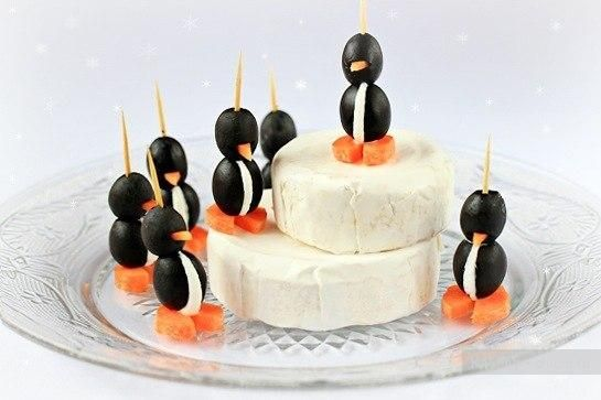 Cream cheese & olive penguins | Take a Bite ~ Finger Foods & Small Bi...