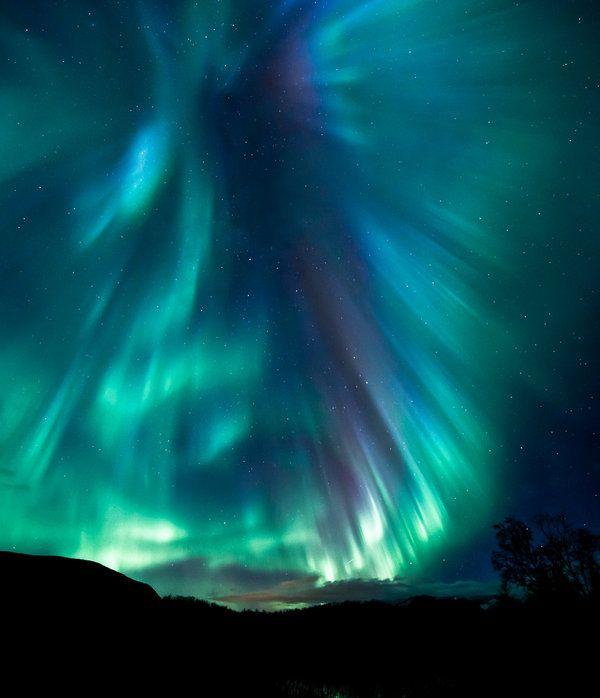 is an amazing photo of the Aurora Borealis, taken in Norway: Aurora ...