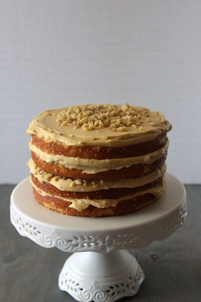 Caramel Walnut Cake | Cake | Pinterest