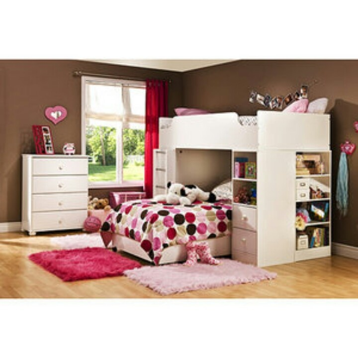 Wal-Mart bedroom set for girls ♥  Home  Pinterest