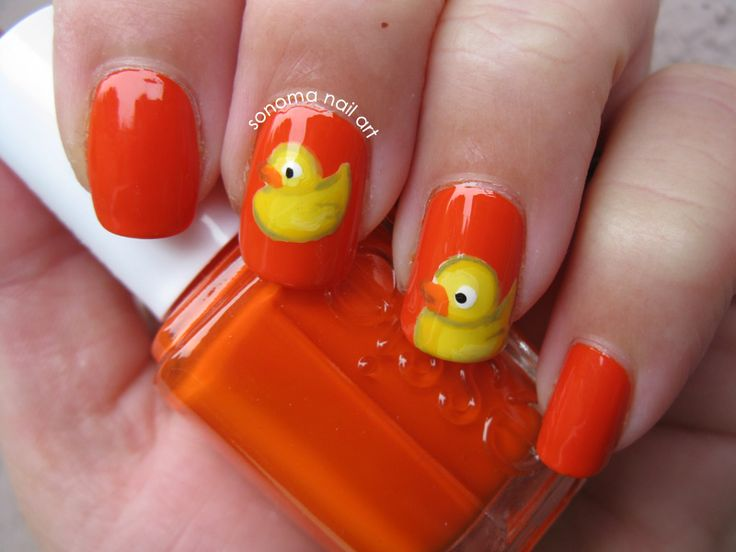 Sonoma Nail Art: Rubber Duckie Nails and Giveaway!