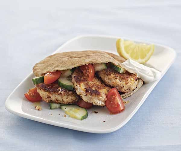 Falafel Sandwich with Tomato-Cucumber Salad recipe: I made the falafel ...