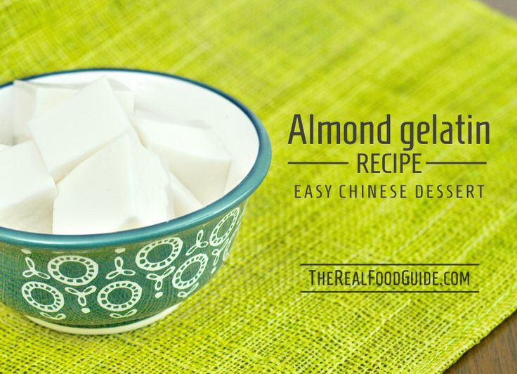 Almond gelatin recipe - Easy Chinese dessert - The Real Food Guide