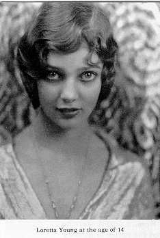 Gretchen Michaela Young a.k.a. Loretta Young at the age of 14
