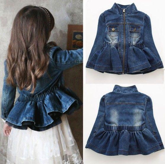 Джинсовая куртка для девочки сшить 989