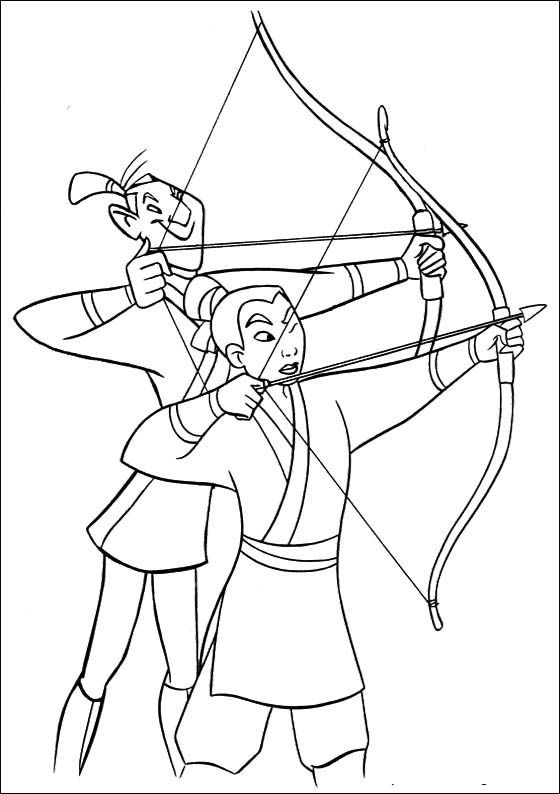 archery coloring pages free - photo#22