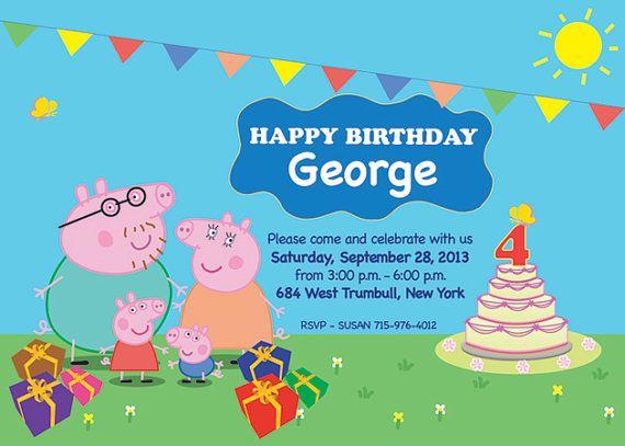 Peppa Pig Invitation as perfect invitations layout