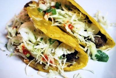Crispy Black Bean Tacos with Feta and Cabbage Slaw – via Jennifer's ...