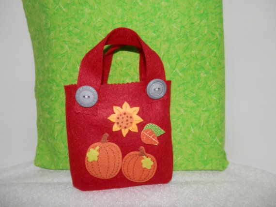 Felt fall bags gift decorations tote small handmade bags candy bags