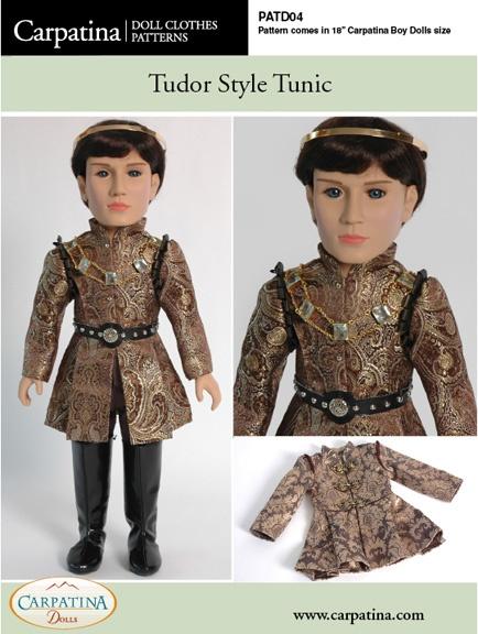 "Tudor Tunic ~ PDF Download Pattern for Carpatina 18"" Boy Dolls"