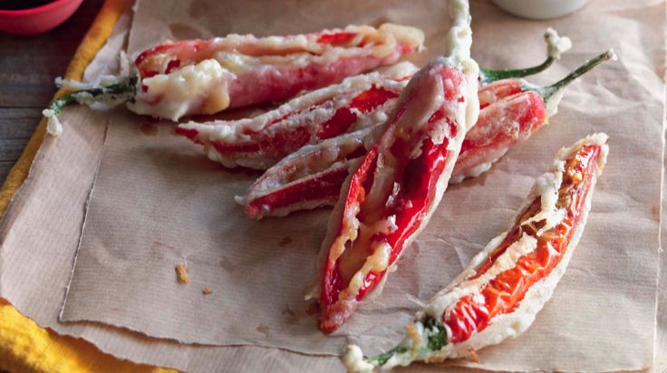 Tempura Cheese-Stuffed Chillies Recipe! Yea. #foodrepublic