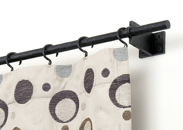 Swing Arm Curtain Rods Picture   Home Decor   Pinterest
