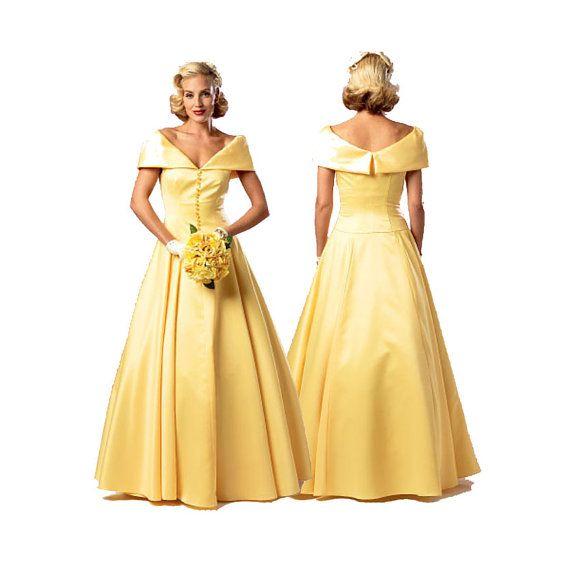1950s evening dress pattern butterick b6022 retro reissue for Butterick wedding dress patterns