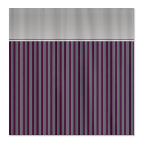purple and gray striped shower curtain home ideas pinterest