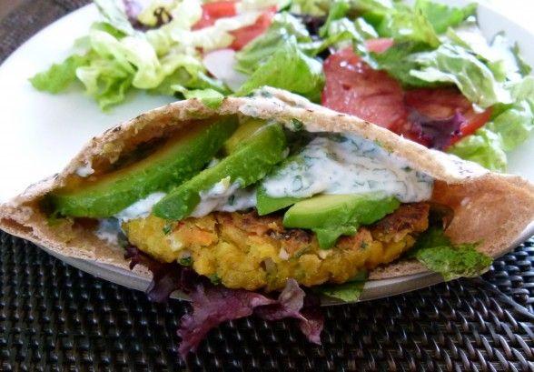 healthy chickpea burgers with avocado | Grub! | Pinterest