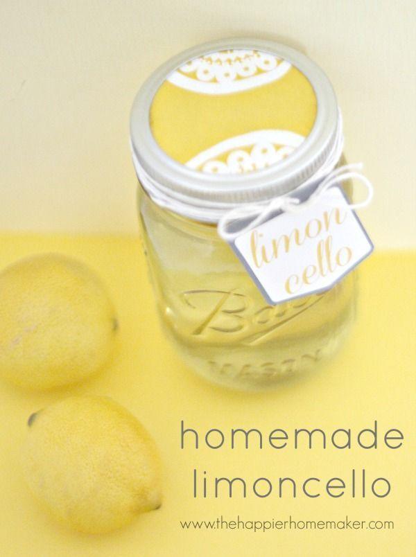 Homemade Limoncello-DIY Gift Idea | Gift Ideas | Pinterest