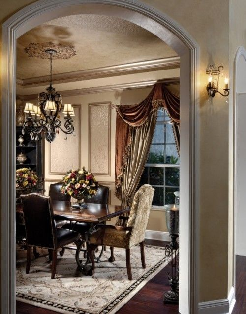 Classic traditional dining room white vanilla taupe for Pictures of traditional dining rooms