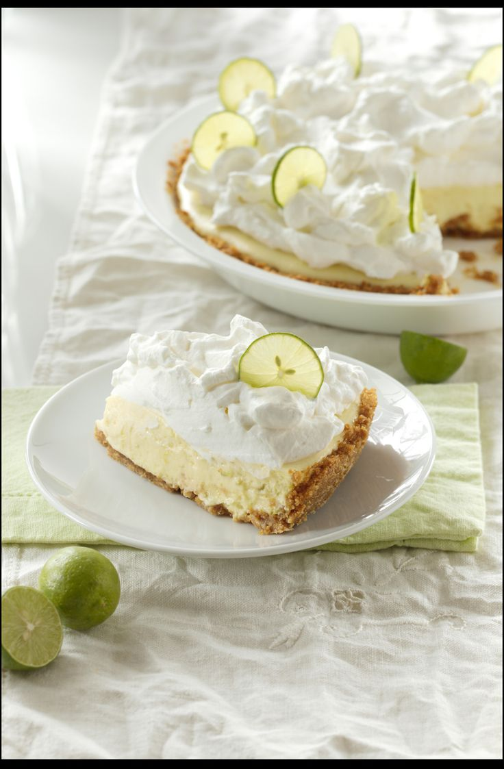 Key Lime Pie with Whipped Cream Topping – Recipe - Relish