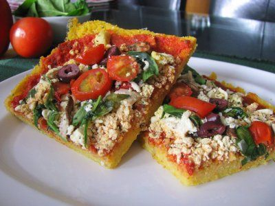 Tofu Ricotta Pizza with a Polenta Crust: So what's different about ...