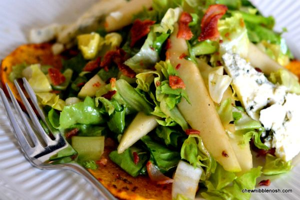 Roasted Butternut Squash Salad with Pears and Blue Cheese - Chew ...