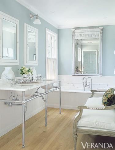 Pale Blue Walls With White Trim Bathroom Pinterest