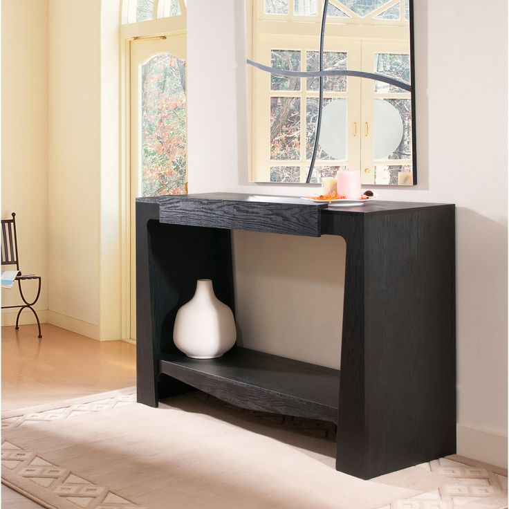 Overstock Foyer Furniture : Furniture of america urbana black modern hall entry way