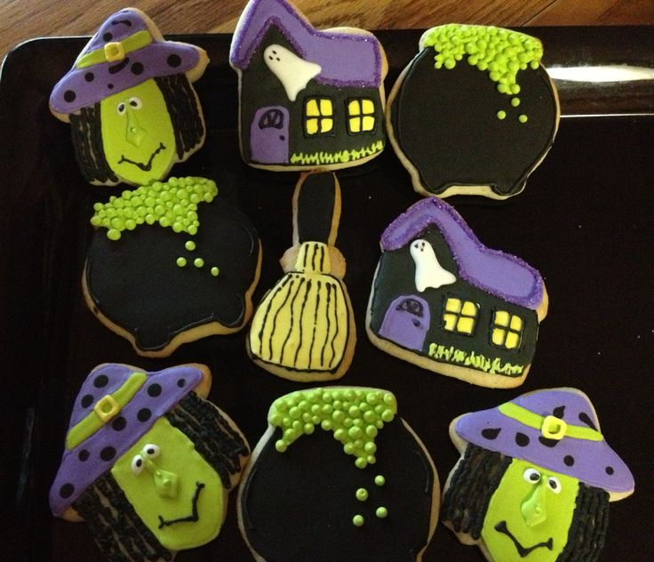 Witches brew cookies | Rie-creations Cookies | Pinterest