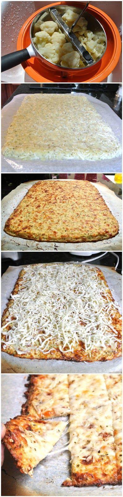 Cheesy Garlic Cauliflower Bread Sticks | Veggies | Pinterest