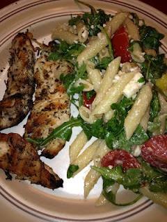 "warm arugula pasta salad | Good Tasting ""diet"" food | Pinterest"