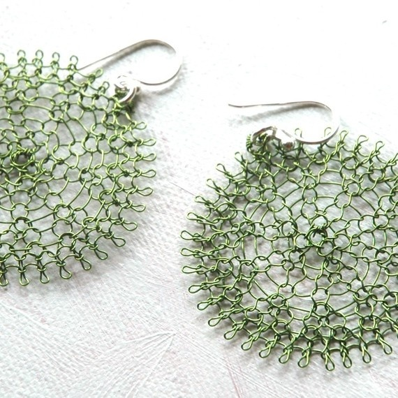 crochet metal wire earrings crochet gallery Pinterest
