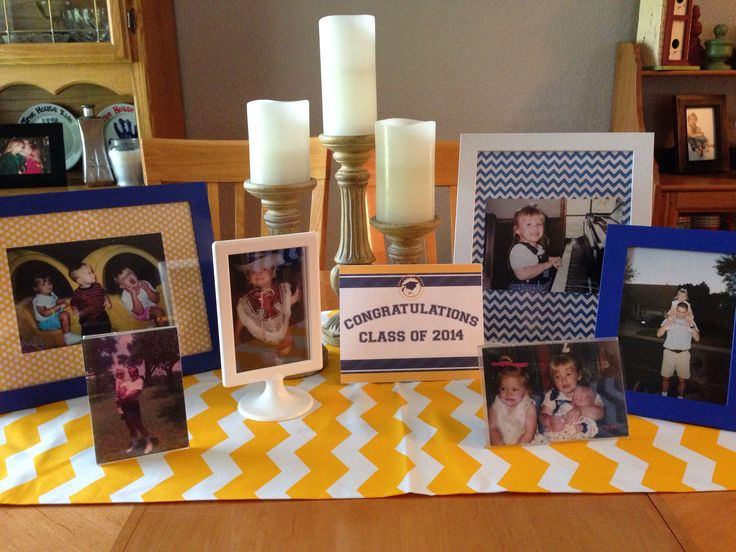 Graduation table decorations | Graduation ideas | Pinterest